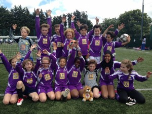 Football girls and bosy